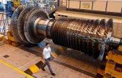 A gas turbine under