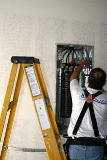 Electricians and electrical contractors perform installation and maintenance work.
