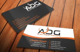 Electrical Contractor business Cards